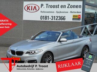 BMW 2-SERIE Cabrio 220I M SPORT Automaat/Lederen Bekleding/Xenon/Orig. Ned auto/btw auto